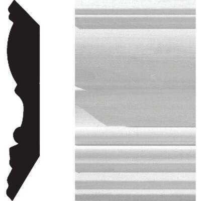 House of Fara 3/4 In. W. x 4-1/2 In. H. x 8 Ft. L. White Primed MDF Detail Crown Molding
