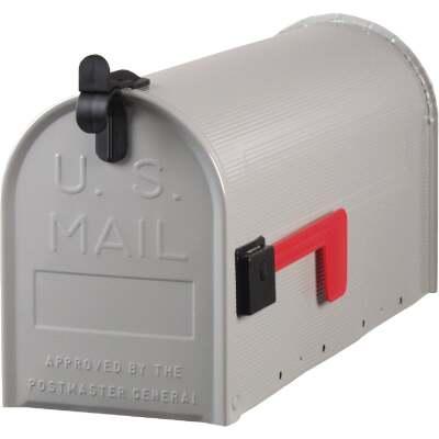 Gibraltar Grayson T1 Gray Steel Rural Post Mount Mailbox