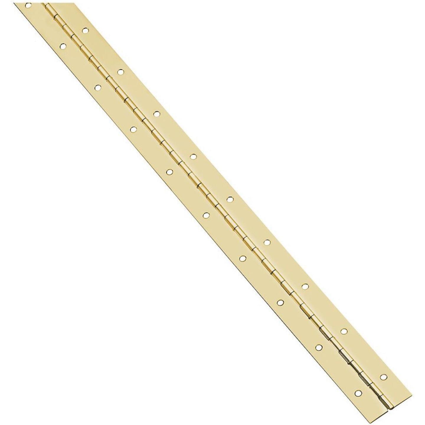 National Steel 1-1/16 In. x 30 In. Bright Brass Continuous Hinge Image 1