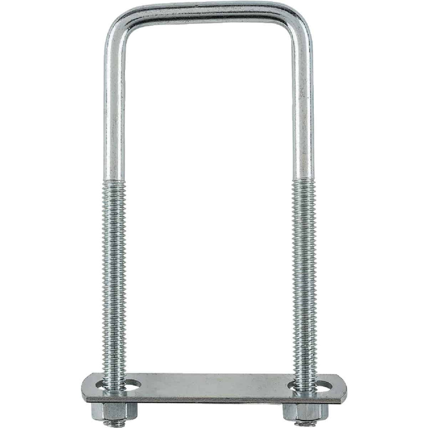National 5/16 In. x 2 In. x 5 In. Zinc Square U Bolt Image 2