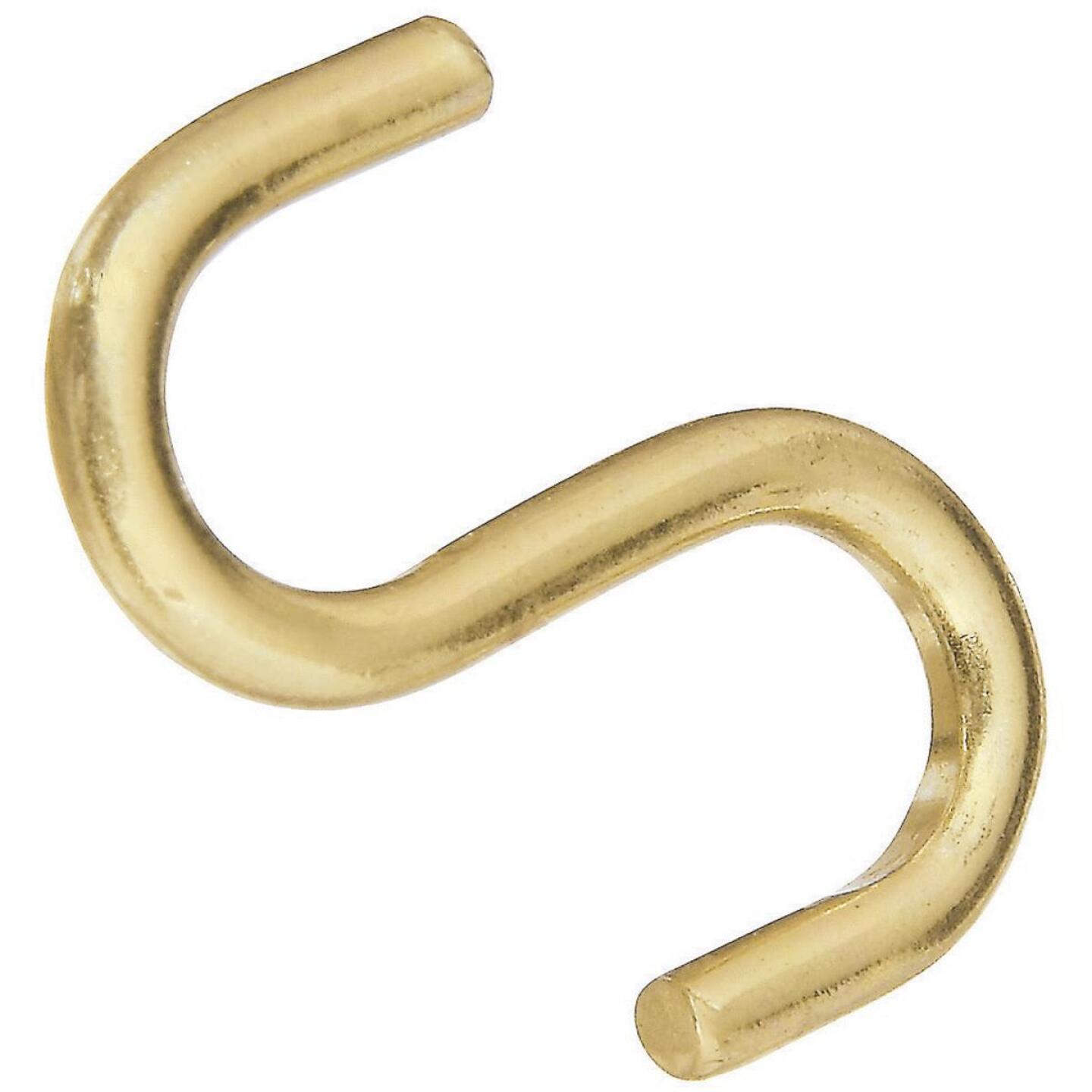 National 1 In. Brass Heavy Open S Hook (3 Ct.) Image 1