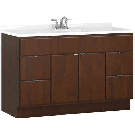 Bertch Riverside 48 In. W x 34-1/2 In. H x 21 In. D Brindle Vanity Base, 2 Door/4 Drawer