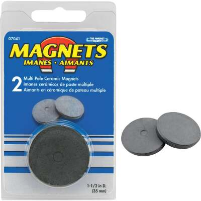 Master Magnetics 1-1/2 In. Multi Pole Ceramic Magnet Disc (2 per Pack)