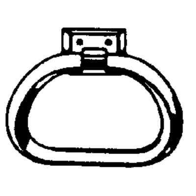 Decko Chrome/White Plastic Towel Ring