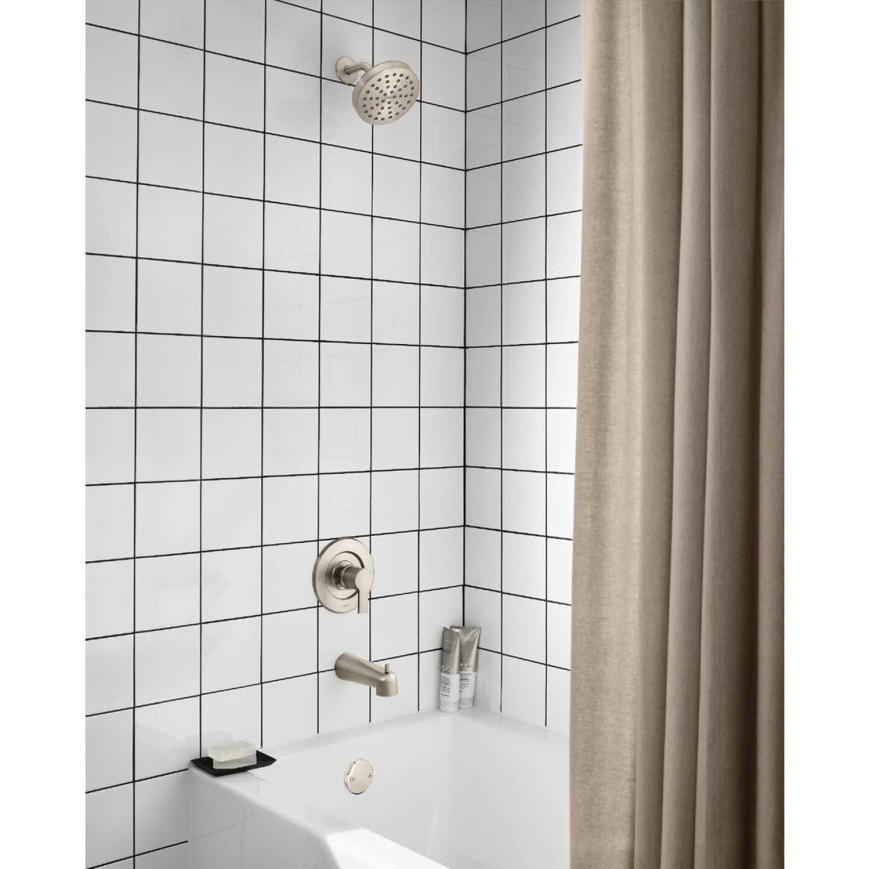 Moen Rinza Spot Resistant Nickel Single-Handle Posi-Temp Tub & Shower Faucet Image 3