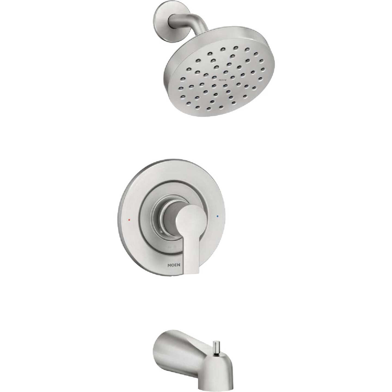 Moen Rinza Spot Resistant Nickel Single-Handle Posi-Temp Tub & Shower Faucet Image 1