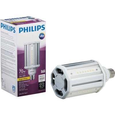 Philips TrueForce 26W Clear Corn Cob Medium Base LED High-Intensity Light Bulb