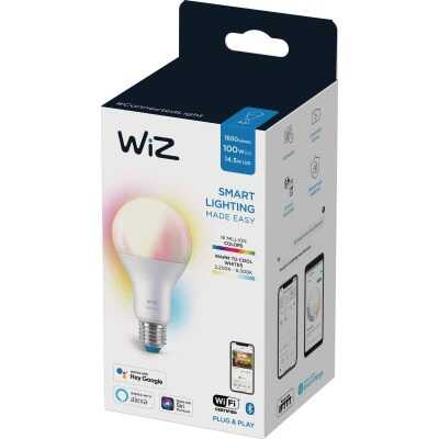 Wiz 100W Equivalent Color Changing A21 Medium Dimmable Smart LED Light Bulb