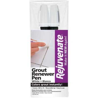 Rejuvenate Grout Renewer Pen, White (2 Count)