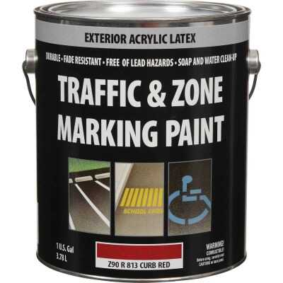 Traffic And Zone Curb Red Latex Gallon Traffic Paint