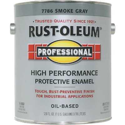 Rust-Oleum Professional Oil-Based Gloss VOC Formula Rust Control Enamel, Smoke Gray, 1 Gal.