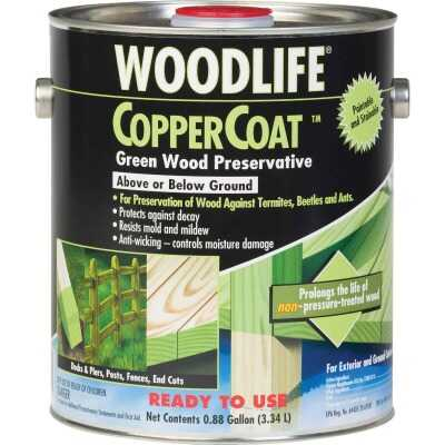 Rust-Oleum Woodlife Water-Based Coppercoat Green Wood Preservative, 1 Gal.