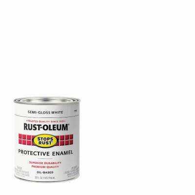 Rust-Oleum Stops Rust Oil Based Semi-Gloss Protective Rust Control Enamel, White, 1 Qt.