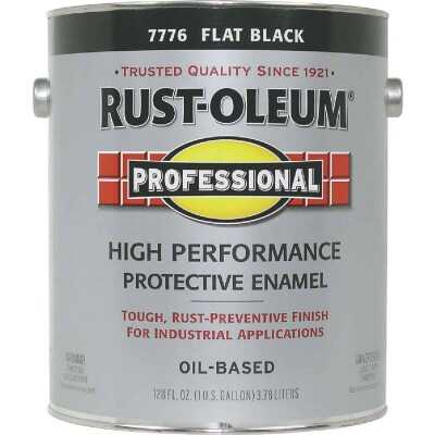 Rust-Oleum Professional Oil-Based Flat VOC Formula Rust Control Enamel, Black, 1 Gal.
