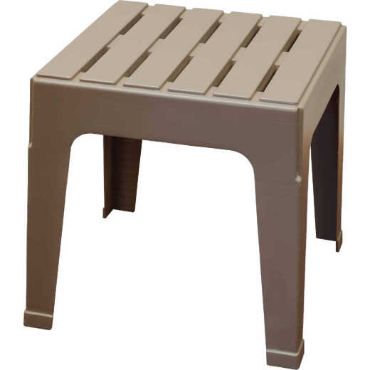 Adams Big Easy Portobello 18.9 In. Square Resin Stackable Side Table