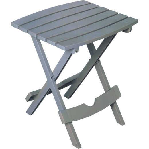 Adams Quik-Fold Gray 15 In. x 17.5 In. Rectangle Resin Folding Side Table