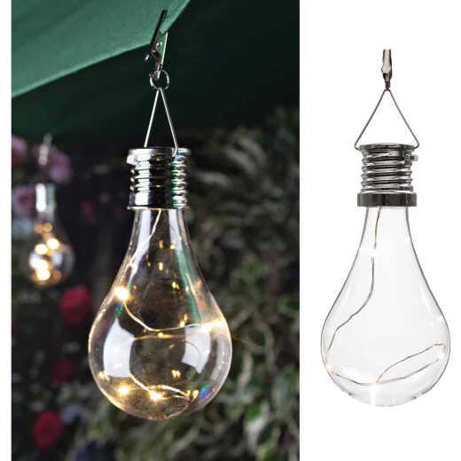 Gerson Everlasting Glow Clear Edison Bulb 5.5 In. H. x 2.75 In. Dia. Solar Light
