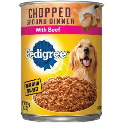 Pedigree Meaty Ground Dinner with Chopped Beef Wet Dog Food, 13.2 Oz.