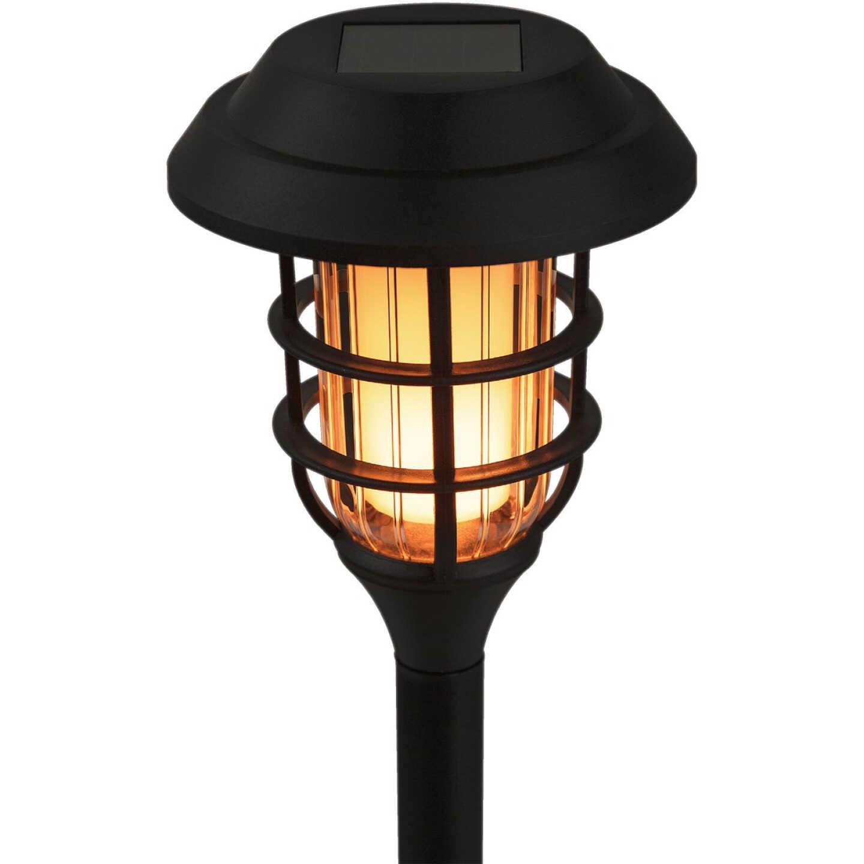 Alpine Black 2 Lumens Plastic LED Mini Torch Solar Path Light (6-Pack) Image 5