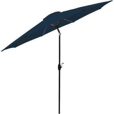 Bond Shade Factory 9 Ft. Aluminum Auto Crank Midnight Blue Patio Umbrella