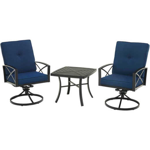 Outdoor Expressions 3-Piece Swivel Bistro Set