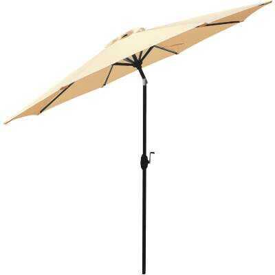 Bond Shade Factory 9 Ft. Aluminum Auto Crank Beige Breeze Patio Umbrella