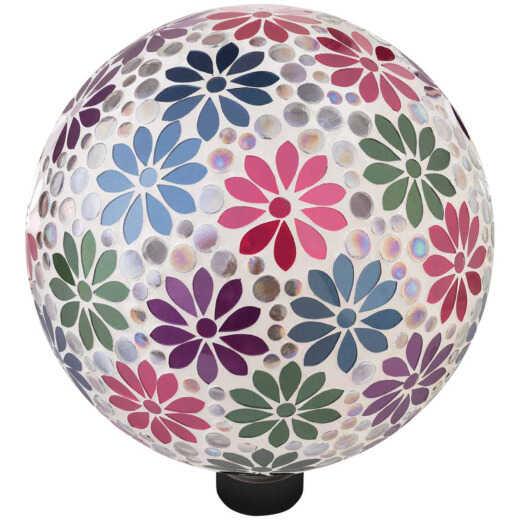 Alpine 10 In. Dia. Daisy Mosaic Glass Gazing Globe