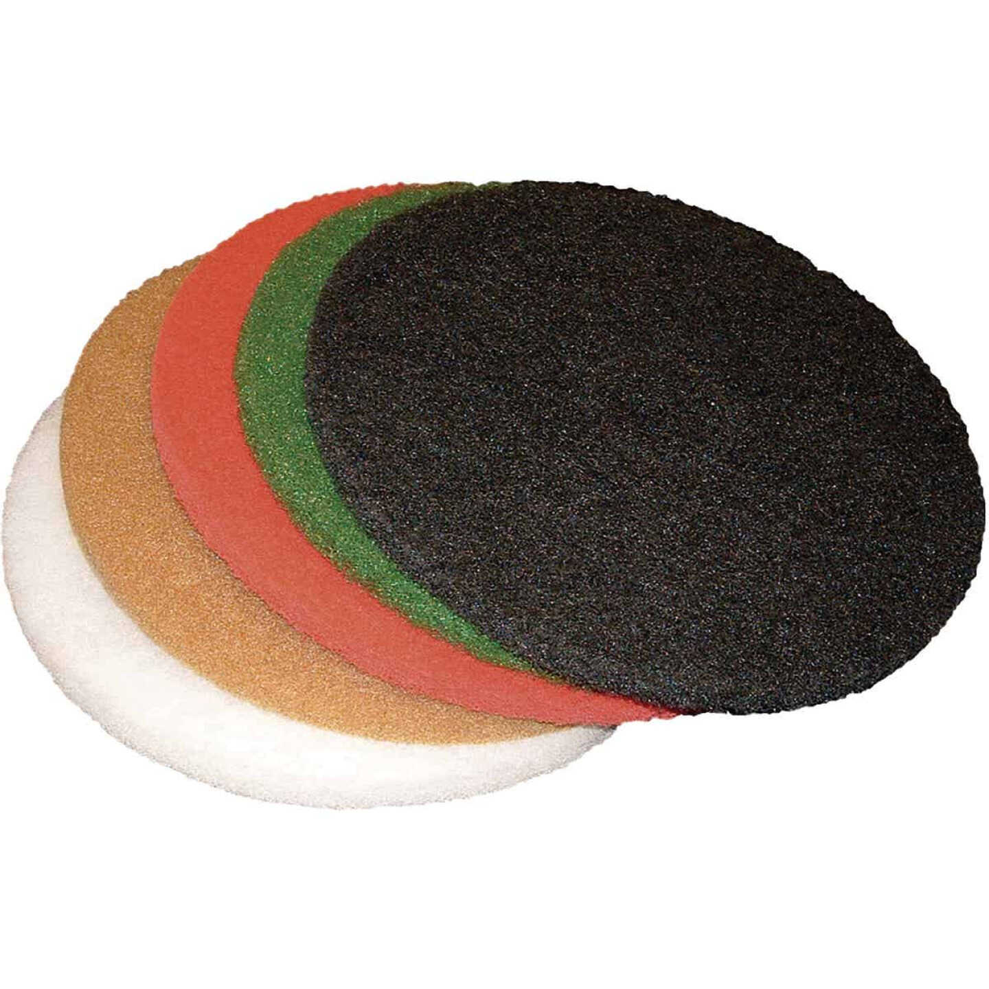 Virginia Abrasives 17 In. Red Buffing Pad Image 1